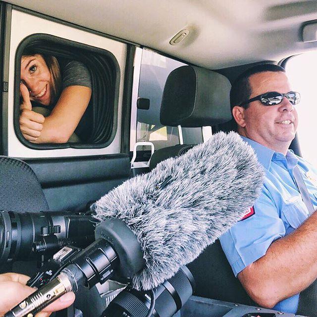 No room up front? No problem. We'll do the interview from the back of the ambulance. 🎥🚑~~~~~~~~~#austin #atxlife #camera #film #filming #vsco #vscocam #filmlife #photography #video #videography #postproduction #filmmaking #nonprofit #setlife #productionlife #shooting #behindthescenes #onset #bts #instahub #instalike #instadaily #dplife #filmcrew #filmproducer