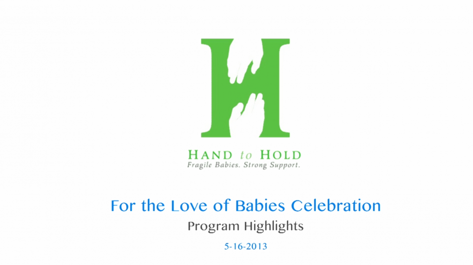 Hand to Hold For Love of Babies Charity Fundraiser Live Event Video